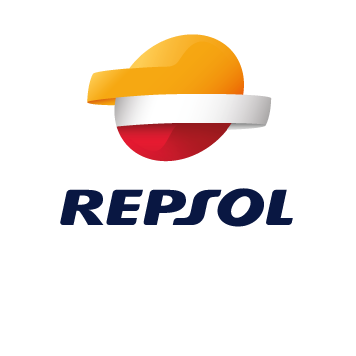 Repsol logo - WE'RE IMPROVING THE ENERGY THAT SURROUNDS US